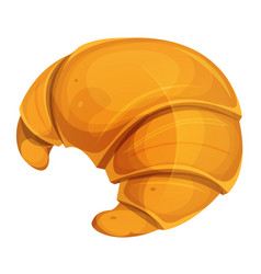 French croissant icon vector
