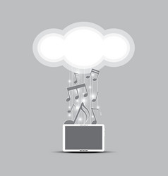 music cloud computing concept vector image