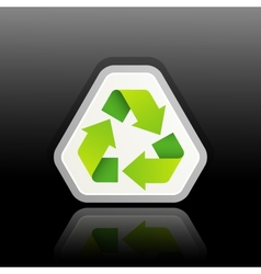 A green recycle symbol vector