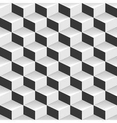 3d seamless geometric background vector image