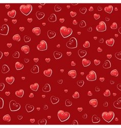 hearts wallpaper pattern vector image