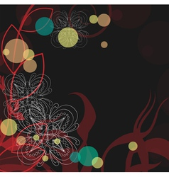 Background with snowflakes abstraction with flower vector