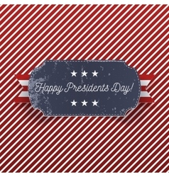 Presidents day holiday big realistic greeting card vector