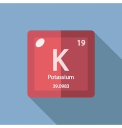 Chemical element potassium flat vector