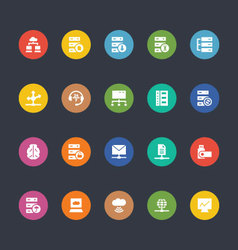 Glyphs colored icons 28 vector