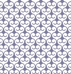 Seamless monochrome pattern with swirls vector image