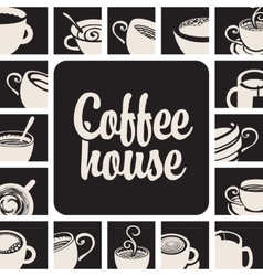 Banner for coffee house vector