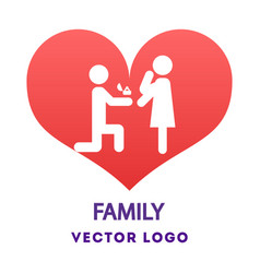 boy make offer to marry him girlfriend vector image