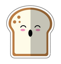 Cartoon slice bread bakery vector