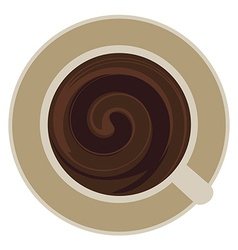 Cup of coffee whirlpool vector
