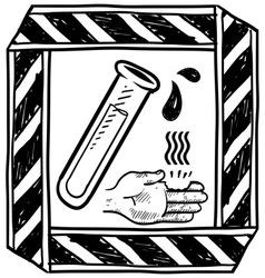 Doodle danger corrosive vector