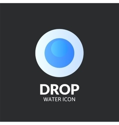 Drop logo template vector image vector image
