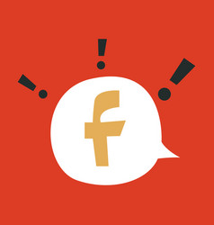 Facebook logotype social network icon vector