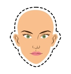 Isolated woman face cartoon design vector