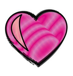 love heart romence adorable symbol vector image