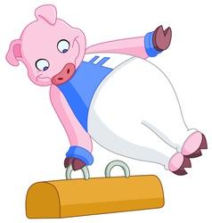 Male gymnast pig vector