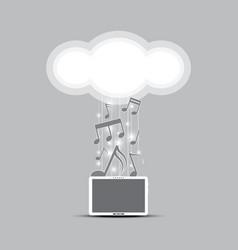 Music cloud computing concept vector