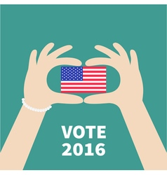 President election day 2016 voting concept hands vector