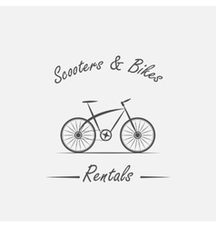 Rent sale - bicycles mopeds and scooters vector