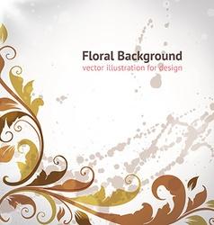 Retro floral border vector