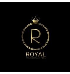 Royal golden label vector image vector image