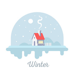 Seasonal of sweet house with chimney and smoke vector