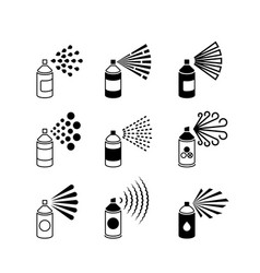 spray aerosol bottle graffiti can icons vector image vector image