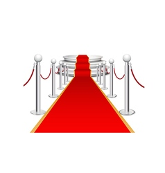 Stage and red carpet background vector