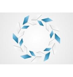 Tech geometric blue white logo design vector