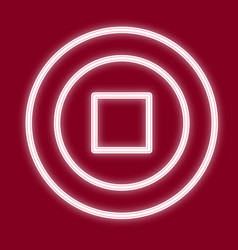the image of the square in the circle vector image