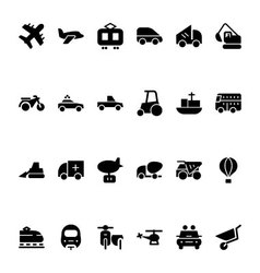 Transport Hand Drawn Doodle Icons 2 vector image vector image