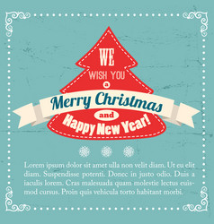 vintage greeting poster vector image vector image