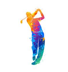 Golf sport silhouette vector