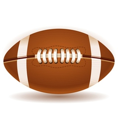 American Football Ball Isolated on Withe vector image