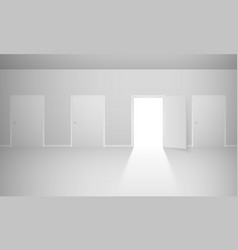 Abstract room with four doors for design vector