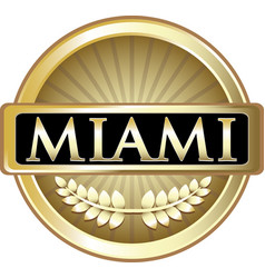 Miami gold label vector