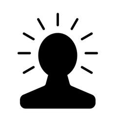 new bright idea in human head icon vector image