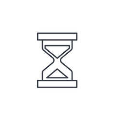 Timer sand hourglass glass clock thin line icon vector