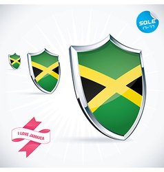I love jamaica flag vector