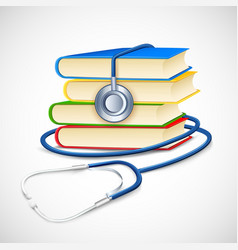 Medical book vector
