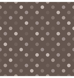 Tile brown and grey polka dots background vector image
