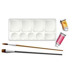Materials used in painting vector