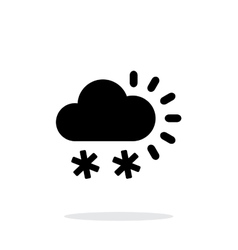 Snowfall weather icon on white background vector