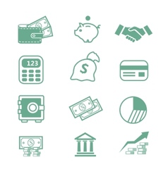 Finance icons - vector