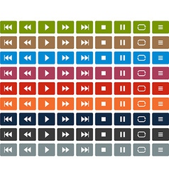Flat player icons vector