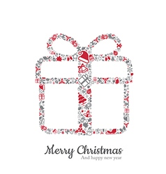 Gift box and christmas icon vector