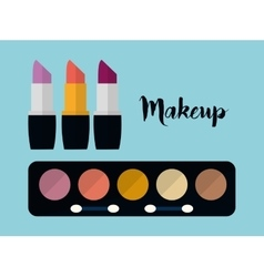 Womens make up and cosmetics vector