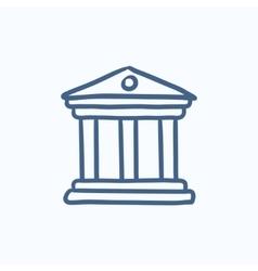Museum sketch icon vector image