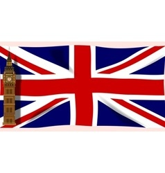 The union flag with big ben vector