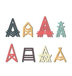 Capital letter a design set vector